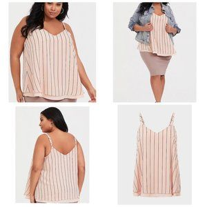 Torrid Blush stripe swing cami